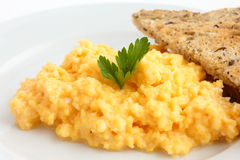 Soft scrambled eggs Royalty Free Stock Images
