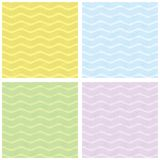 Soft Seamles Wave Pattern. Seamless wave vector  with flower element Stock Images