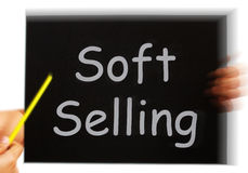 Soft Selling Message Means Casual Advertising Technique Royalty Free Stock Image