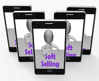 Soft Selling Phone Shows Friendly Sales Technique Royalty Free Stock Photos