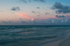 Soft serenity of Atlantic sunset on Caribbean Royalty Free Stock Photo