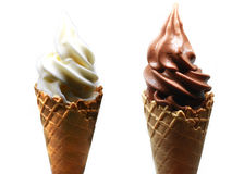 Free Soft Serve Ice Cream In A Waffle Cone Royalty Free Stock Photography - 93904177