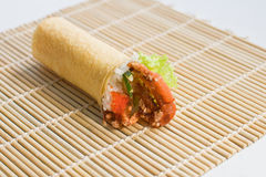 Soft Shell Crab Hand Roll Temaki Royalty Free Stock Images