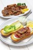 Soft shell crab po boy, cajun style submarine sandwich Royalty Free Stock Images