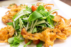 Soft Shell Crab Salad royalty free stock photos