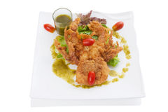 Soft-shell crab salad Stock Image