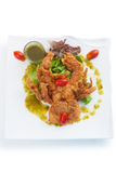 Soft-shell crab salad Stock Photography