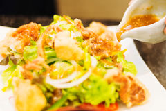 soft shell crab salad Royalty Free Stock Images