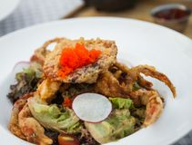 Soft Shell Crab Salad Stock Images