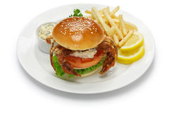 Soft shell crab sandwich Royalty Free Stock Images