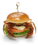 Soft shell crab sandwich Royalty Free Stock Photo