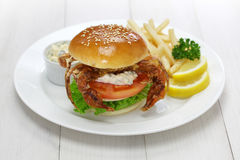 Soft shell crab sandwich Royalty Free Stock Image