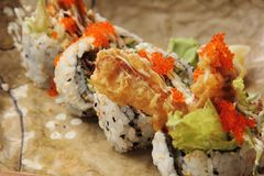 Soft Shell Crab Sushi Stock Image