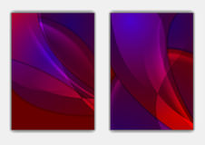 Soft shiny abstract waves vector flyer background Royalty Free Stock Photos