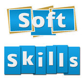 Soft Skills Blue Squares Stripes Royalty Free Stock Photo