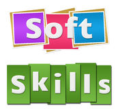 Soft Skills Colorful Squares Stripes Stock Photos
