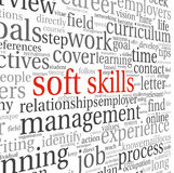 Soft skills concept on white Royalty Free Stock Images