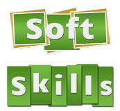 Soft Skills Green Squares Stripes Royalty Free Stock Photos