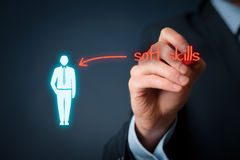Soft skills. Managerial soft skills - human resources officer (recruiter) demand soft skilled manager stock photos
