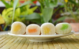 Soft snazzy snacks stuffed bean eaten in autumn on plate. Soft snazzy snacks stuffed bean eaten in autumn on white plate Stock Image