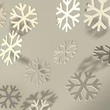 Soft snowflakes on dark background Royalty Free Stock Image