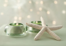 Soft Spa Scene With Gentle Lights Stock Photos