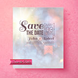 Soft spiritual Save The Date wedding template Stock Image