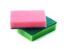 Soft sponge for cleaning and disinfecting water solutions stock image