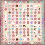 Soft spotted grunge shabby background. Spotted dots shabby background soft and grungy for scrapbooking 12 by 12 inches Royalty Free Stock Photography