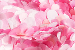 Soft spring pink textile petals wavy composition Royalty Free Stock Photo