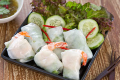 Soft spring roll [Thai's food ] Royalty Free Stock Images