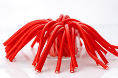 Soft sticks colored licorice Stock Images