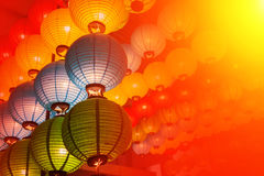 Soft style from China Lantern for Chinese New Year. Background Royalty Free Stock Photos