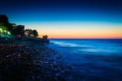 Soft Summer Sunset Shore royalty free stock photos