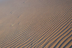 Soft sunlight over ridges and shapes of sand dunes in the majestic Namib Naukluft National Park, scenic tourist and travel attract. Ion in Namibia. Adventure and Royalty Free Stock Photos