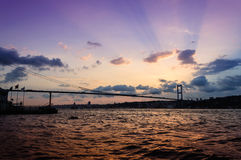Soft Sunset On Bosphorus Bridge Stock Image
