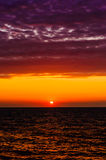 Soft Sunset With Calm Sea Stock Photography