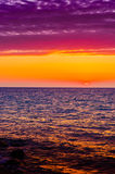 Soft Sunset With Calm Sea Stock Image