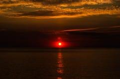 Soft Sunset With Calm Sea Stock Photos
