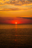 Soft Sunset With Calm Sea Royalty Free Stock Photography