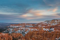 Soft Sunset Light Begins Over Bryce. Canyon Royalty Free Stock Photography