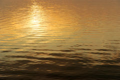 Soft sunset water ripples Royalty Free Stock Image