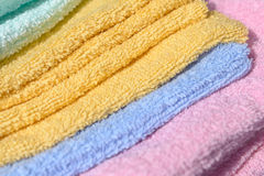 Soft surface of towels stock photos