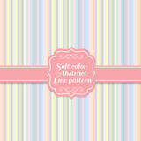 Soft sweet colors vertical line abstract pattern style Stock Photos