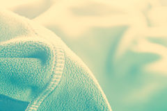 Soft synthetic fleece. From sport clothing. Toned stock photography