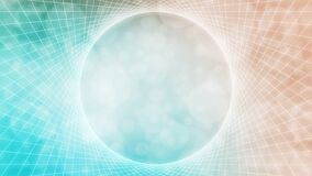 Free Soft Teal, Orange Glowing Abstract Sacred Geometry Vortex Frame Background Stock Photos - 196131623
