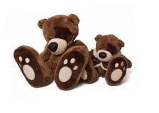 Soft teddy bear couple Stock Image