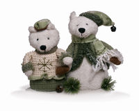 Soft teddy bear couple Royalty Free Stock Photo