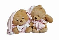 Soft teddy bear couple Stock Photo