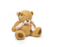 Soft teddy bear. Toy for kids and not only Royalty Free Stock Photo